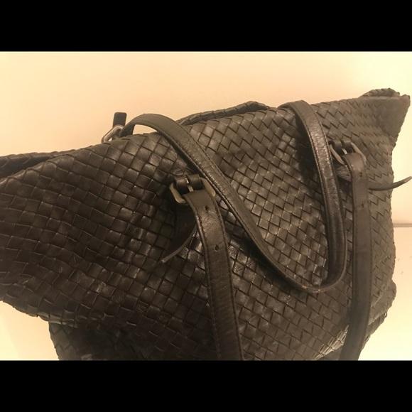 6bfef2288da Bottega Veneta Bags   Brown Woven Leather Tote Bag   Poshmark